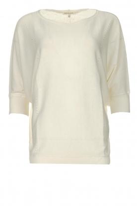 Kocca |  Sweater with half long sleeves Adams | naturel