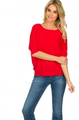 Kocca |  Classic sweater Adams | red
