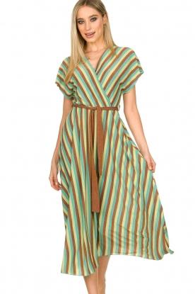 Kocca |  Striped maxi dress Kifam | green