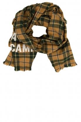 American Vintage |  Checkered scarf Gabilan | camel