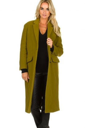 American Vintage | Woolen coat Bilofield | green