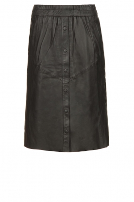 Dante 6 |  Leather skirt Reid | black