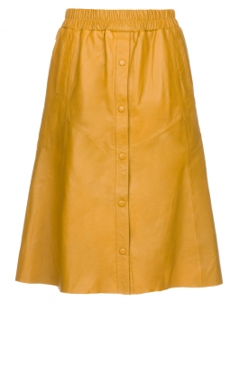 Dante 6 |  Leather skirt Reid | ochre yellow