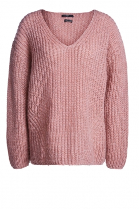 Set |  Chunky knit sweater Groovy | pink