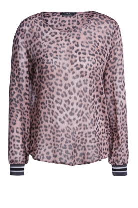 Set |  Top with leopard print Panter | pink