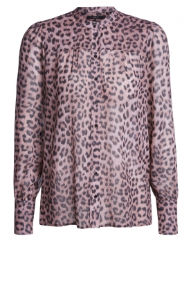 Set |  Blouse with panther print Panter | pink
