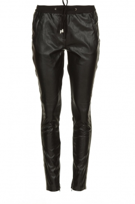 Aaiko |  Imitation leather pants with studs Sosa | black