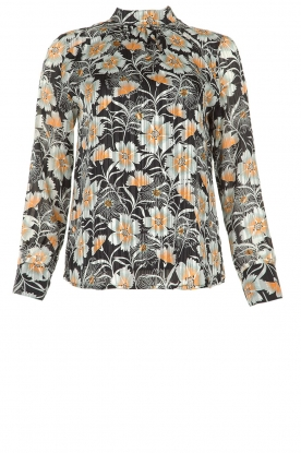 Aaiko |  Blouse with flower print Fayah | black