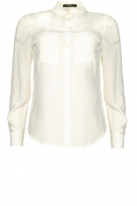 Set |   Blouse with pockets Daz | white