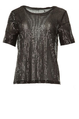 Set |  Sequin top Lulu | black