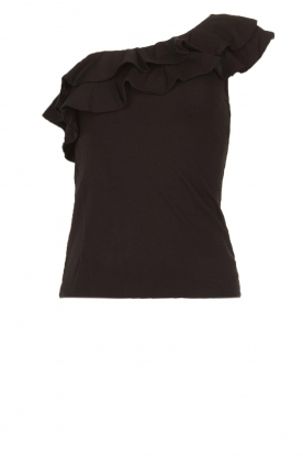 Set |  One-shoulder top Nina | black