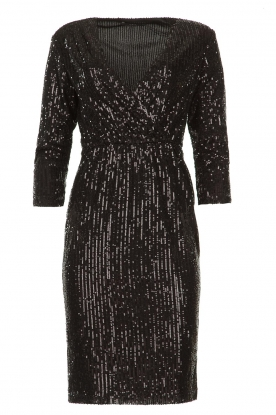 Set |  Dress with sequins Lulu | black