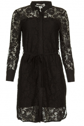 Aaiko |  Lace dress Ladina | black