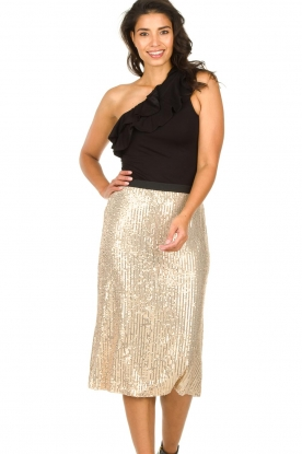 Set |  Midi skirt with sequins Lulu | gold