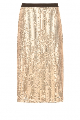 Set |  Sequin midi skirt Lulu | gold