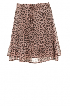 Set |  Skirt with leopard print Zara | pink
