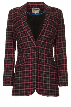 Aaiko | Checkered blazer Adeline | black