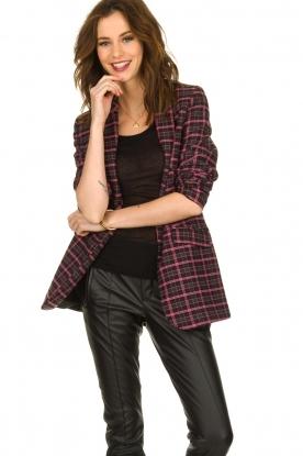Aaiko |  Checkered blazer Adeline | black