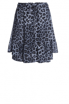 Set |  Skirt with leopard print Zara | blue