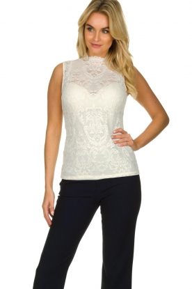 Set |  Lace top Grace | white