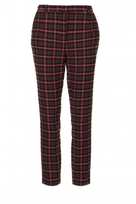 Aaiko | Checkered pants Parien | black