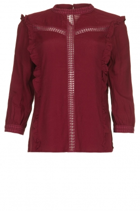 Aaiko |  Blouse with cut-outs Verana | red