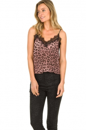 Set |  Lace top with leopard print Jula | animal print