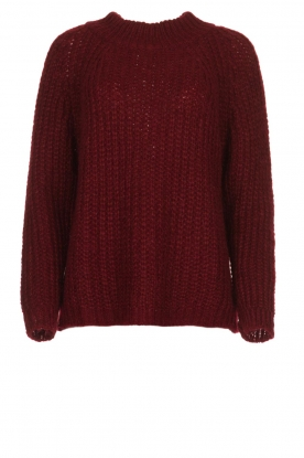 Aaiko |  Chunky knitted sweater Milly | red