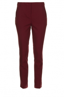 Aaiko | Trousers with decorative buttons Parien | red
