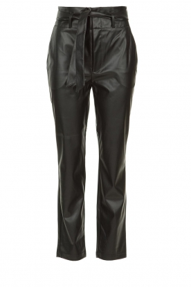 Set |  Faux leather paperbag pants Roxy | black