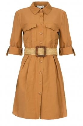 Silvian Heach |  A-line blouse dress Vender | brown