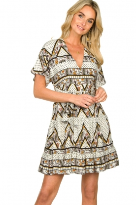 Silvian Heach |  Printed dress Yebbibu | white