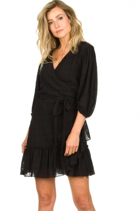 Silvian Heach |  Wrap dress Pumalanga | black