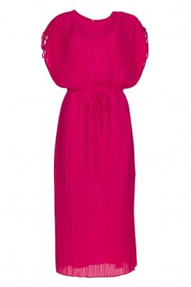 Silvian Heach |  Pleated midi dress Qualyub | pink