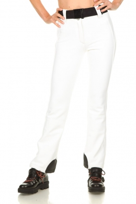 Goldbergh |  Ski pants with belt Pippa | white