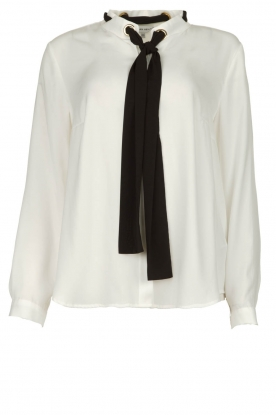 Silvian Heach |  Blouse with bow detail Bekiri | white