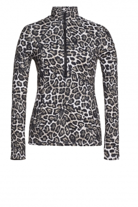 Goldbergh |  Ski pully with leopard print Lilja | animal print