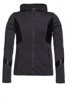 Goldbergh |  Ski jacket with gold details Salli | black