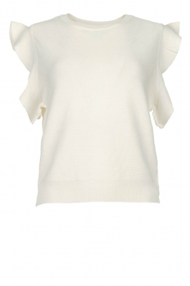 Silvian Heach |  Top with ruffles Kenema | white