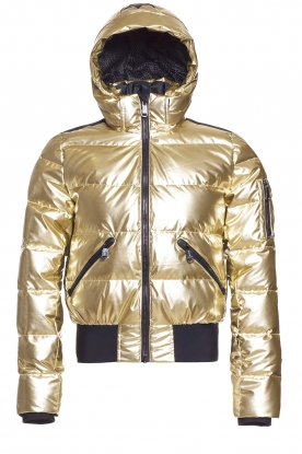 Goldbergh |  Metallic down jacket Aura | gold