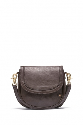 Depeche |  Leather crossbody Dina | brown