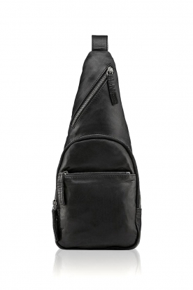 Depeche |  Leather shoulder bag Alessia | black