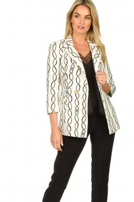 ELISABETTA FRANCHI | print blazer catena