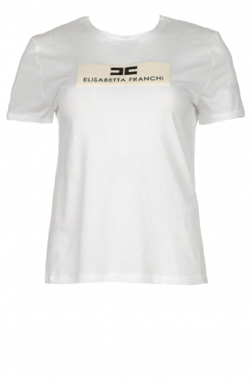ELISABETTA FRANCHI |  T-shirt with printed logo Aniek | white