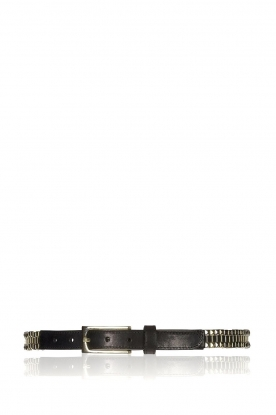 Depeche | Leather belt Layla | black