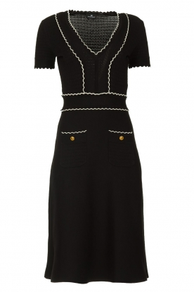 ELISABETTA FRANCHI |  Fitted dress Grazia | black