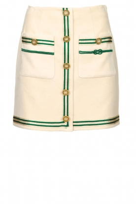 ELISABETTA FRANCHI |  Mini skirt with pockets Elegante | naturel