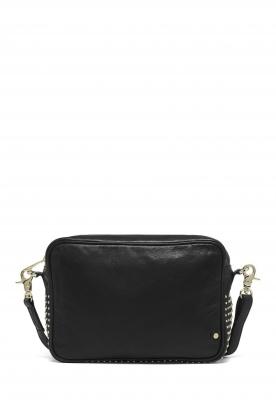 Depeche | Leather shoulder bag Amanda | black