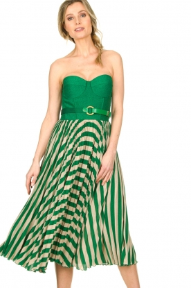 ELISABETTA FRANCHI | Strapless dress Noelle | green