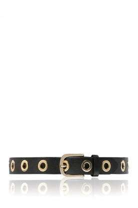 Depeche |  Leather belt Malia | black